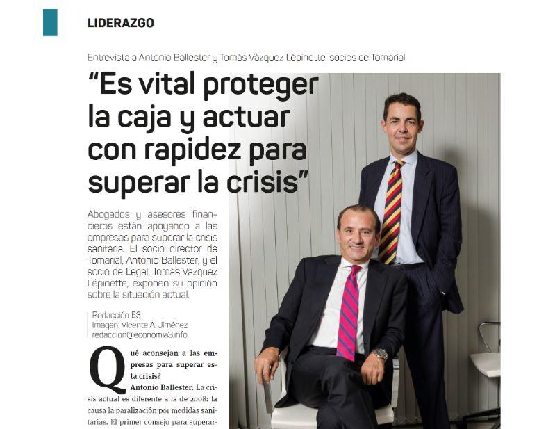 """Entrevista en Economía 3: """"Es vital proteger la caja y actuar con rapidez para superar la crisis"""""""