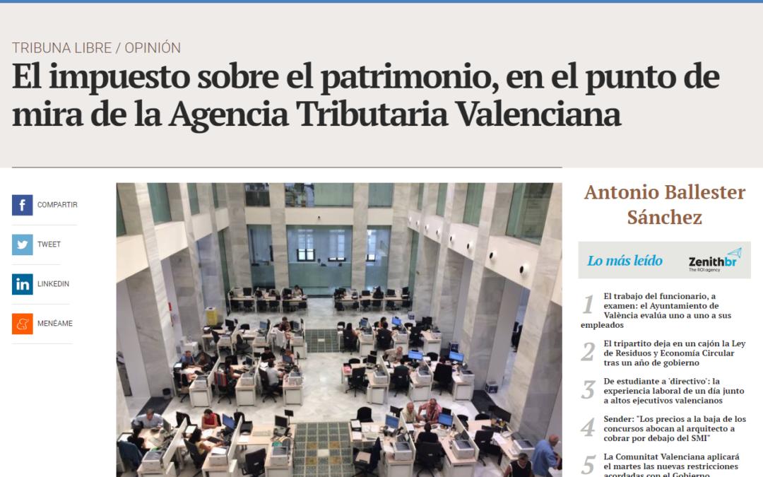 Antonio Ballester en Valencia Plaza: El impuesto sobre el patrimonio, en el punto de mira de la ATV