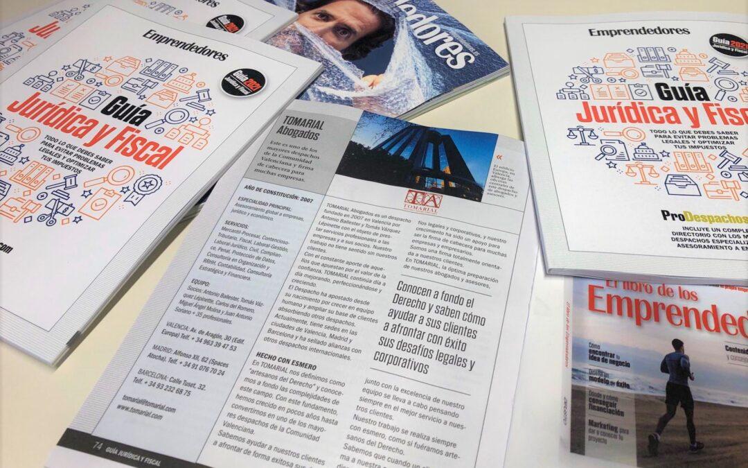 Tomarial, en la Guía Jurídica y Fiscal 2021 de la revista Emprendedores