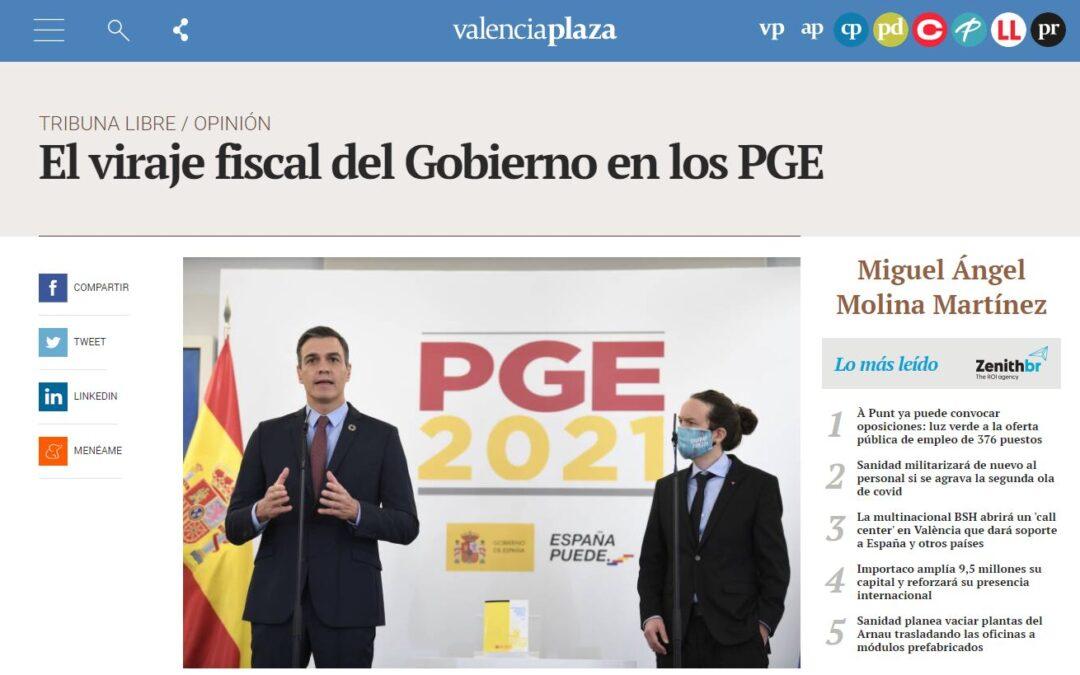 El viraje fiscal del Gobierno en los Presupuestos: artículo de Miguel Ángel Molina en Valencia Plaza