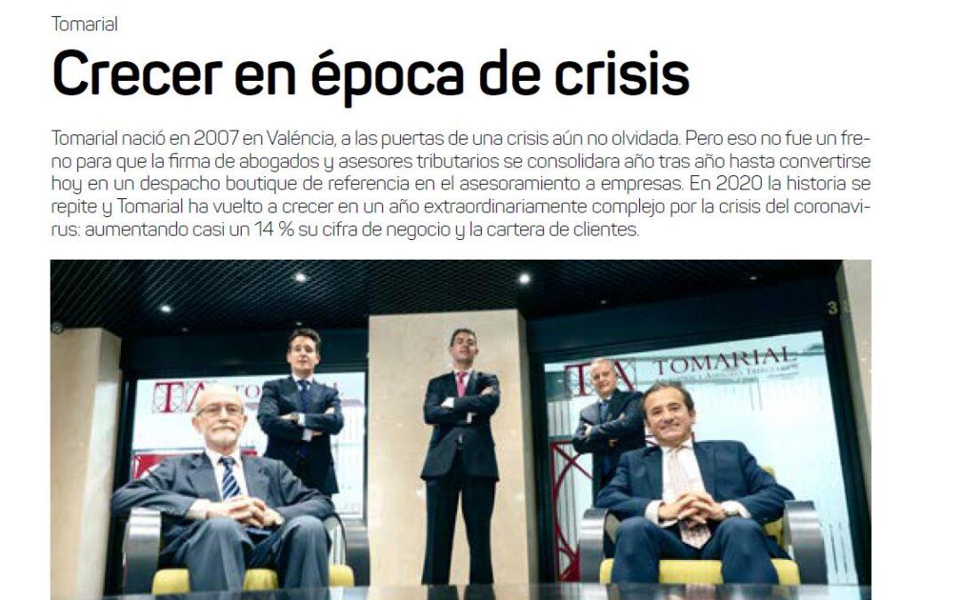 """Reportaje en Economía 3 sobre Tomarial: """"Crecer en época de crisis"""""""