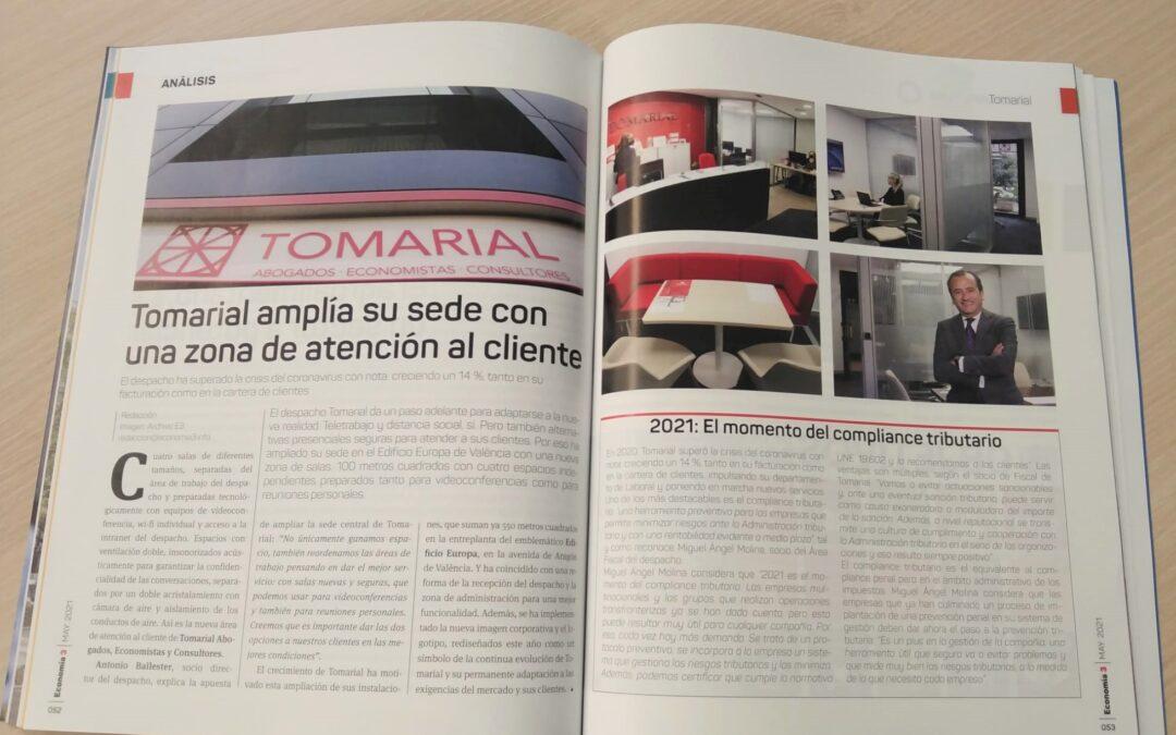 Economía 3 dedica un reportaje a la ampliación de la sede de Tomarial