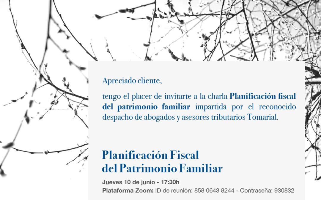Planificación fiscal del patrimonio familiar: charla online en colaboración con Banco Mediolanum